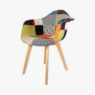 Vue de trois-quarts du fauteuil SCANDI