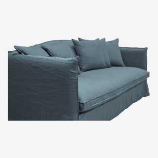 Vue de trois-quarts du canapé GRIMALDI