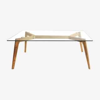 Vue de face de la table basse CABARI