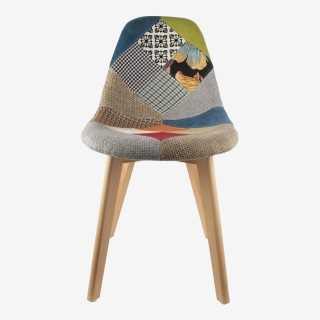 Vue de face de la chaise PATCHWORK