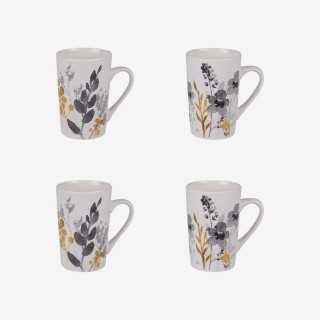 Vue de face du coffret de mugs FIORE