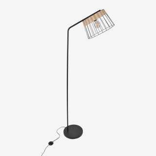 Vue de face du lampadaire INDAH