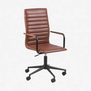Vue de trois-quarts du fauteuil de bureau ASLOW