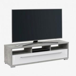 Mise en situation du meuble TV HOME en vue de trois-quarts