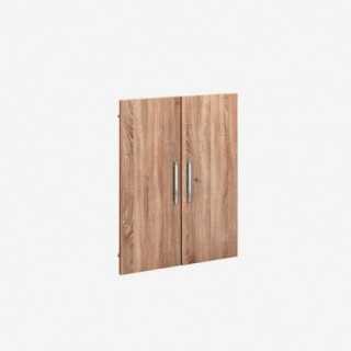 Vue de face du set de 2 portes SYSTEM chêne sonoma hauteur 100 cm