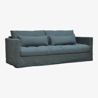 Vue de trois-quarts du canapé PADDY