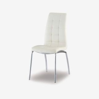Vue de trois-quarts de la chaise ROSE