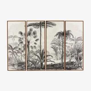 Vue de face des 4 toiles PALMA