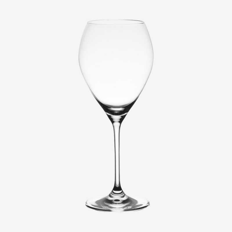 Vue de face du verre à bordeaux SILHOUETTE