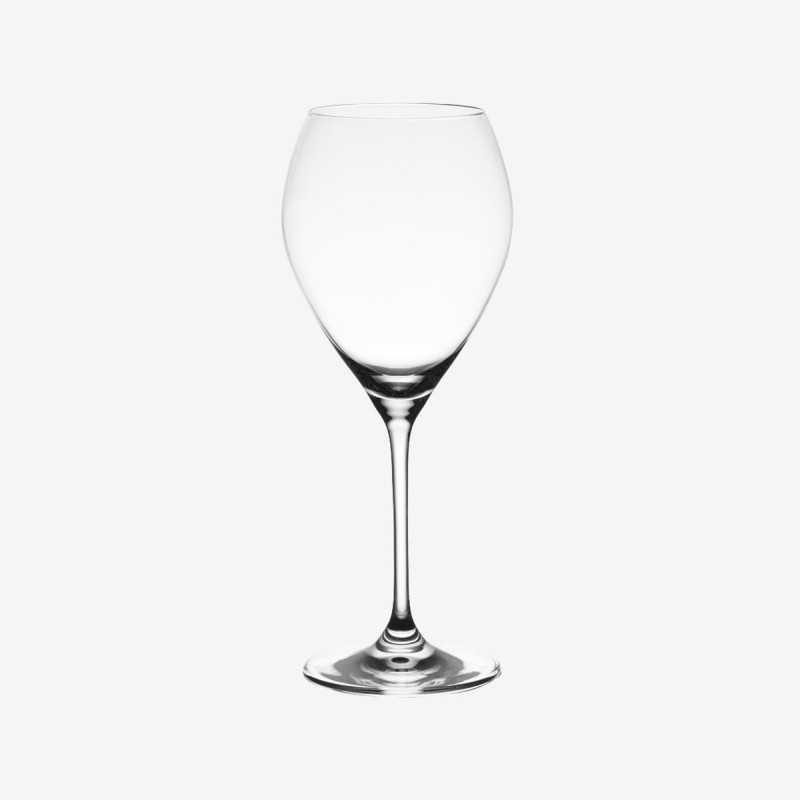Vue de face du verre à vin SILHOUETTE