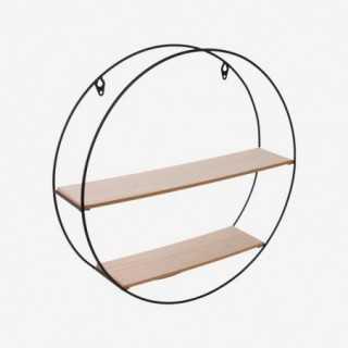 Vue de trois-quarts de l'étagère ronde FILAIRE