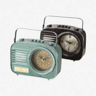 Vue des deux coloris de l'horloge RADIO