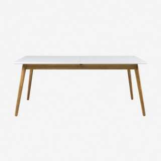 Vue de face de la table extensible 160 cm DOT