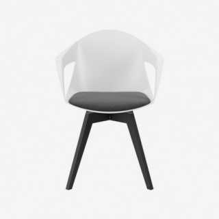 Vue de face de la chaise ALLY avec pied MIMI