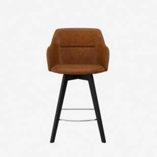 Vue de face de la chaise ALLY avec pied BESS